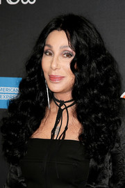 Cher wore her hair in long, thick curls at the Broadway opening of 'The Cher Show.'