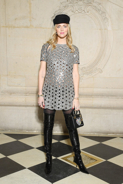 Chiara Ferragni Over the Knee Boots [haute couture spring summer,clothing,fashion model,fashion,leggings,tights,street fashion,footwear,knee,dress,leg,christian dior,chiara ferragni,part,christian dior haute couture spring summer 2018,paris,france,photocall - paris fashion week,show,paris fashion week]