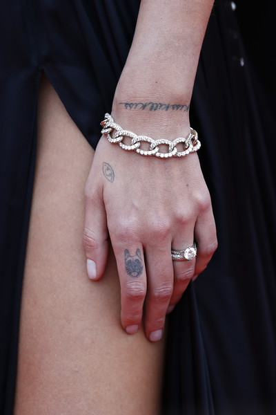 Chiara Ferragni Link Bracelet [bracelet,body jewelry,jewellery,hand,finger,fashion accessory,wrist,skin,nail,arm,chiara ferragni,once upon a time in hollywood,screening,cannes,france,red carpet,the 72nd annual cannes film festival,cannes film festival]
