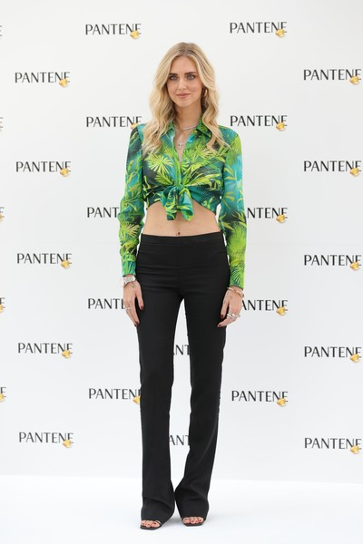 Chiara Ferragni Slacks [clothing,green,shirt,fashion,waist,shoulder,jeans,sleeve,crop top,top,leggings,jeans,outerwear,chiara ferragni,green,socialite,fashion,model,estatepantene,event,leggings m,fashion,jeans,outerwear,model,leggings,green,socialite,supermodel]
