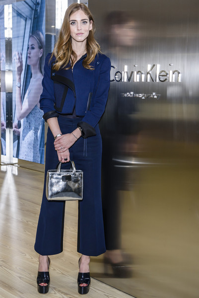 Chiara Ferragni Pantsuit [cobalt blue,clothing,blue,fashion,electric blue,street fashion,fashion model,shoulder,lady,footwear,watches,calvin klein watches jewelery,calvin klein,chiara ferragni,booth,jewelery booth,baselworld 2015,basel,switzerland]