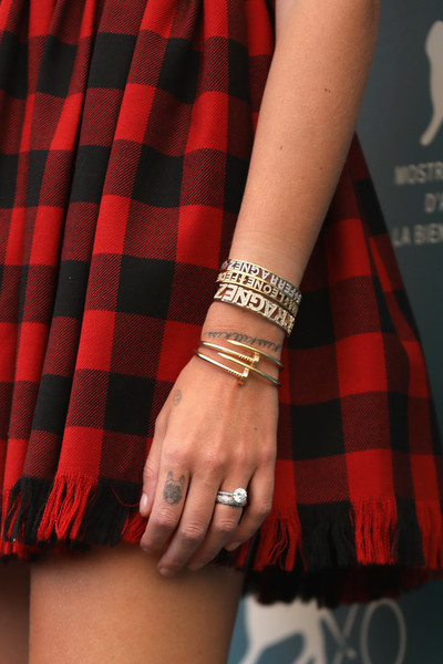 Chiara Ferragni wore her gorgeous engagement ring to the 'Chiara Ferragni: Unposted' photocall during the Venice Film Festival.