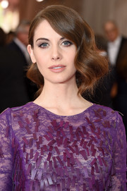 Alison Brie wore a vintage-glam finger-wave updo at the Met Gala.