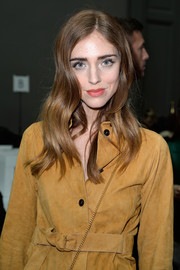 Chiara Ferragni looked oh-so-cute with her wavy hairstyle at the Chloe fashion show.