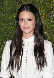 Rachel Bilson finished off her ultra-girly beauty look with a pink lip.