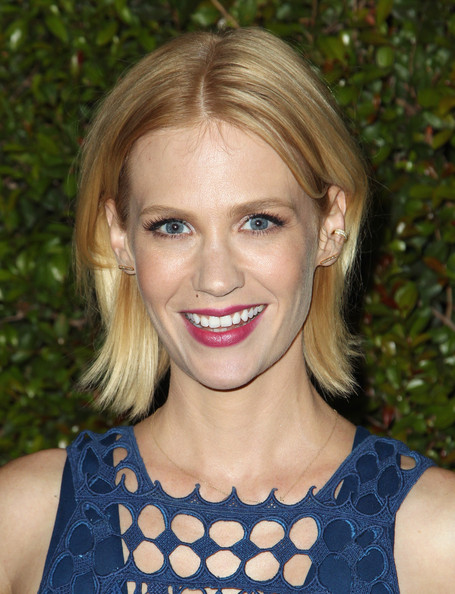 More Pics of January Jones Layered Razor Cut (1 of 3) - January Jones Lookbook - StyleBistro