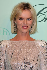 Model Eva Herigova showed off her short bob while attending the Chopard party.
