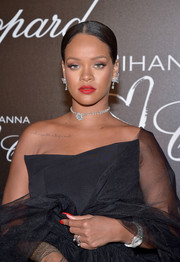 Rihanna attended the Chopard dinner wearing a jaw-dropping diamond-encrusted watch from the brand.
