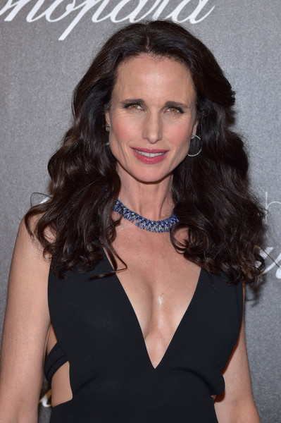 More Pics of Andie MacDowell Cutout Dress (1 of 7) - Andie MacDowell Lookbook - StyleBistro [chopard trophy photocall,hair,hairstyle,eyebrow,long hair,beauty,brown hair,chin,dress,lip,black hair,andie macdowell,photocall,chopard trophy,hotel martinez,cannes film festival]