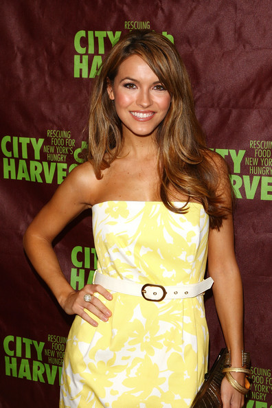 Chrishell Stause Leather Belt [clothing,dress,hairstyle,premiere,strapless dress,brown hair,cocktail dress,long hair,hair coloring,eyelash,chrishell stause,metropolitan pavilion,new york city,city harvest,city restaurant tasting cocktail party,cocktail party,city restaurant tasting]