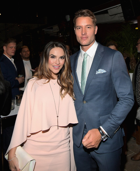 Chrishell Stause Diamond Bracelet [suit,formal wear,event,fashion,hairstyle,outerwear,haute couture,tuxedo,white-collar worker,fashion design,69th emmys,chrishell stause,justin hartley,emmys,dream hollywood,the highlight room,hollywood,california,audi celebrates,l]