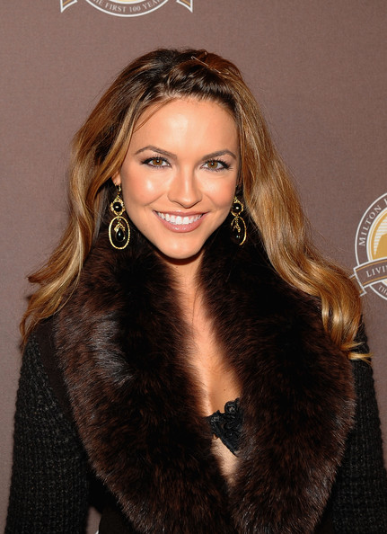 Chrishell Stause Dangling Gemstone Earrings [milton hershey school documentary,hair,hairstyle,eyebrow,brown hair,long hair,blond,beauty,fur,lip,fur clothing,chrishell stause,new york city,the times center,premiere]