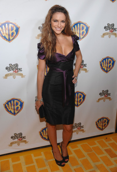 Chrishell Stause Cocktail Dress [the wizard of oz,clothing,dress,cocktail dress,carpet,little black dress,fashion,shoulder,red carpet,flooring,footwear,chrishell stause,new york city,tavern on the green,emerald gala celebrating the 70th anniversary]