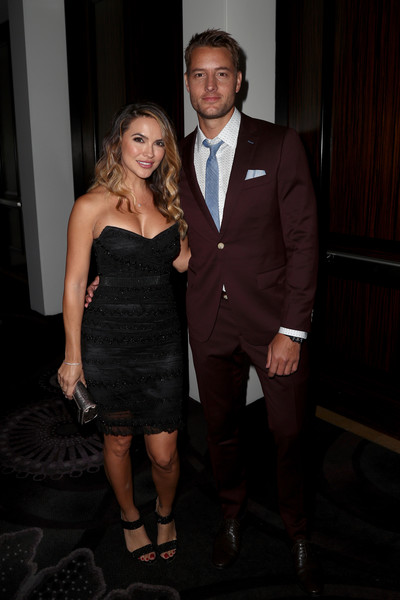 Chrishell Stause Strapless Dress [formal wear,suit,clothing,fashion,dress,event,little black dress,cocktail dress,tuxedo,leg,chrishell stause,justin hartley,the beverly hilton hotel,beverly hills,california,l,summer tca tour,television critics association awards]