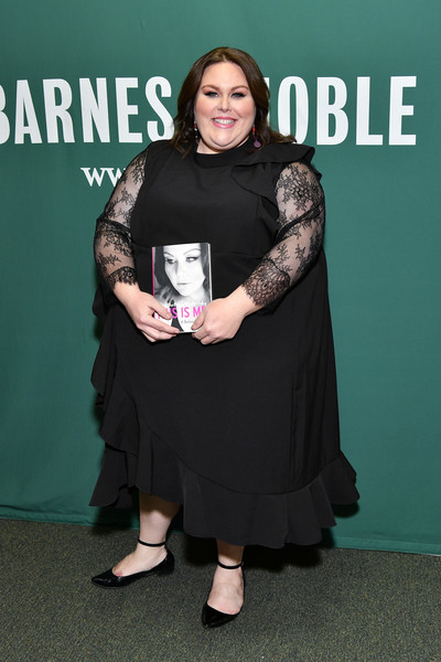 Chrissy Metz Pointy Flats [this is me,memoir,book,premiere,event,award,copies,chrissy metz signs,chrissy metz,new york city,barnes noble union square]