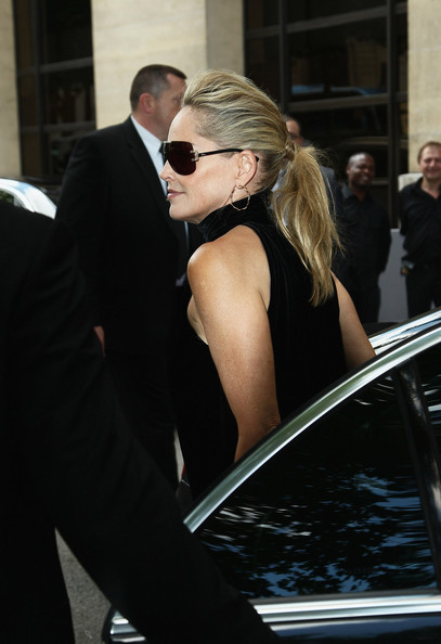 More Pics of Sharon Stone Ponytail (1 of 9) - Sharon Stone Lookbook - StyleBistro