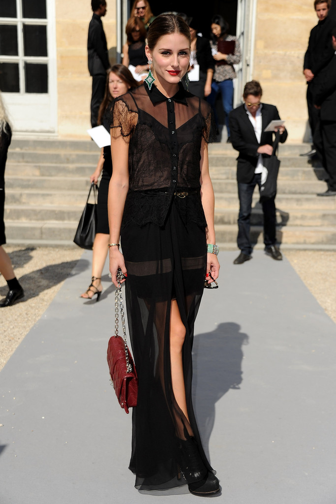 Olivia Palermo attends the Christian Dior Ready to Wear Spring / Summer 2012 show during Paris Fashion Week at Musee Rodin on September 30, 2011 in Paris, France.