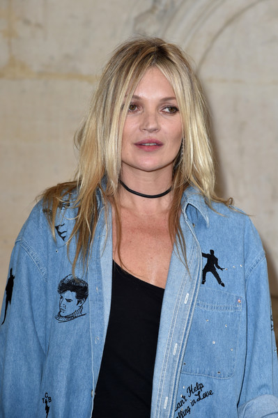 Kate Moss rocked an edgy layered cut at the Christian Dior fashion show.