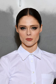 Coco Rocha styled her hair into a center-parted ponytail for the Dior Couture Fall 2019 show.