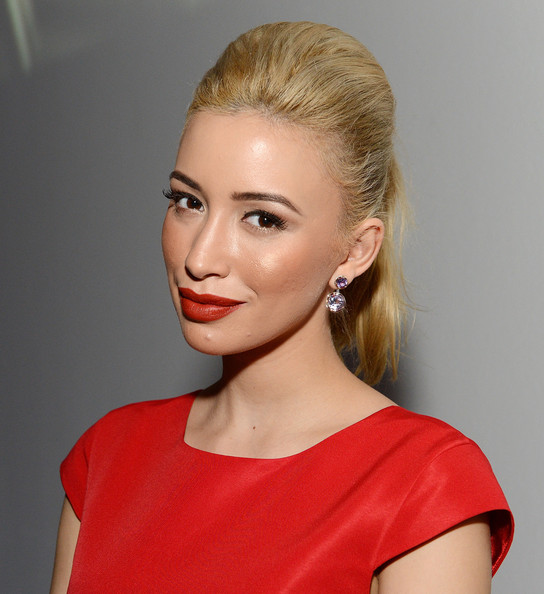 Christian Serratos Red Lipstick
