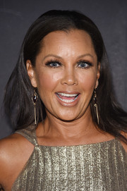 Vanessa Williams wore her hair down and straight at the Chistian Siriano fashion show.