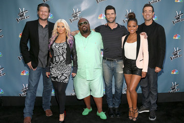 "Christina Aguilera Cee-Lo Green NBCUniversal's ""The Voice"" Press Junket And Cocktail Reception"