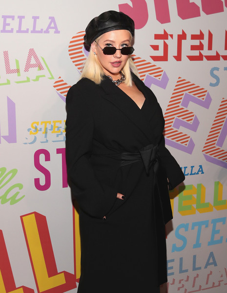 Christina Aguilera Rectangular Sunglasses