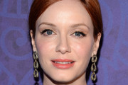Christina Hendricks Dangling Chain Earrings