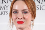 Christina Hendricks Messy Updo