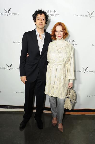 Christina Hendricks Wool Coat