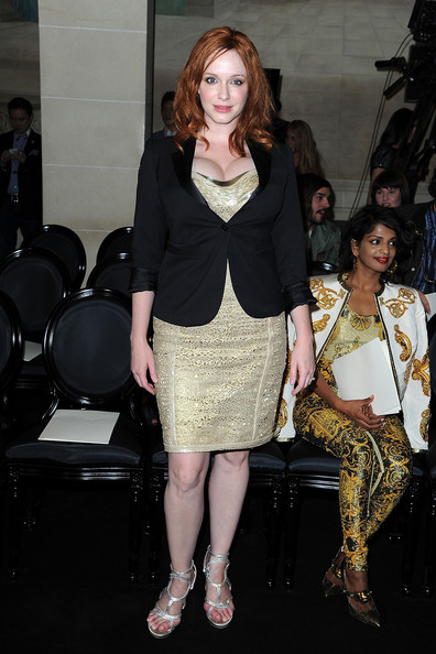 Christina Hendricks Flat Sandals