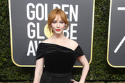 Christina Hendricks Velvet Clutch