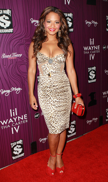 Christina Milian Peep Toe Pumps
