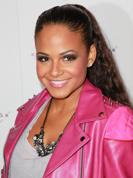 Christina Milian Metallic Eyeshadow