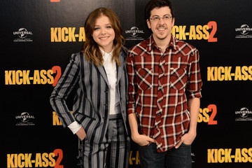Christopher Mintz-Plasse Chloe Grace Moretz 'Kick-Ass 2' Stars Pose in London