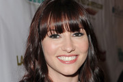 Chyler Leigh Long Wavy Cut with Bangs