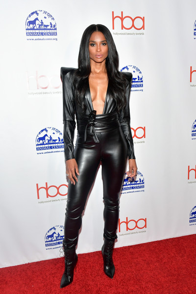 Ciara Lace Up Boots [clothing,carpet,leather,latex clothing,footwear,red carpet,jacket,electric blue,outerwear,leather jacket,arrivals,ciara,avalon hollywood,los angeles,california,hollywood beauty awards]
