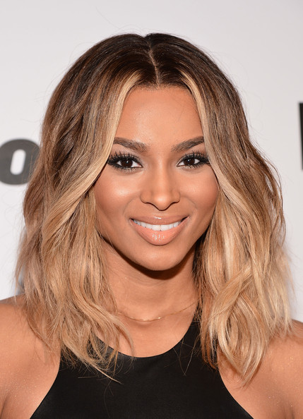 Ciara Nude Lipstick [hair,eyebrow,human hair color,beauty,blond,hairstyle,chin,layered hair,long hair,forehead,ciara,arrivals,new york city,capitale,billboard women in music luncheon]