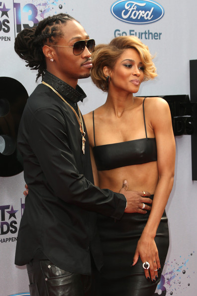 Rapper Future (L) and singer Ciara attend the 2013 BET Awards at Nokia ...