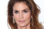 Cindy Crawford Long Side Part