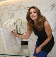 Cindy Crawford attended the Talking Top Design event wearing a chic diamond bracelet.