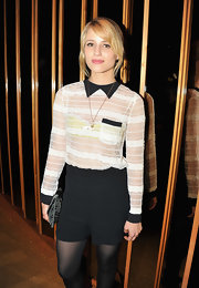 Dianna Agron attended a showing of 'Thor' wearing this stunning sheer lace top with contrasting black detail by Opening Ceremony.
