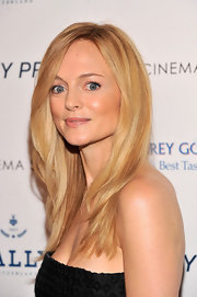 Heather Graham's beauty look was completely fresh and natural at the 'At Any Price' screening in NYC, where she donned a blush lip color.