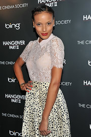 Selita Ebanks looked ladylike at the screening of 'The Hangover Part 2.' The supermodel pulled her hair back in a sleek bun and braided her bangs for a fun and flirty twist.