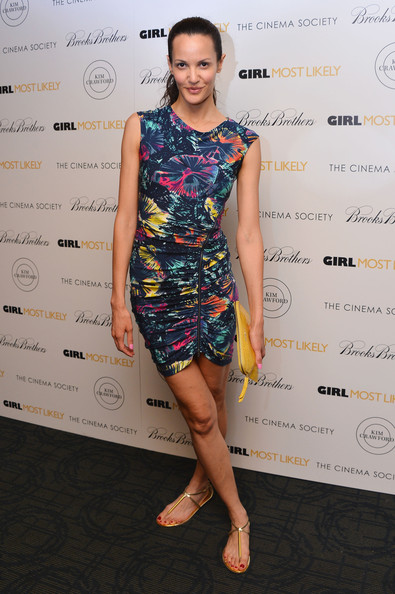 Claudia Mason's printed frock had a fun and summery vibe to it.