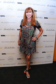 Nicole Miller rocked a bold tribal-print shift dress while at the 'Girl Most Likely' screening in NYC.
