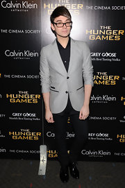 Always looking sharp, Christian Siriano wore this gray blazer to the NY screening of 'The Hunger Games.'