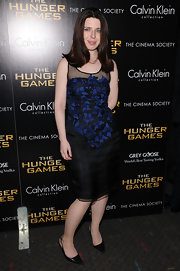 Heather Matarazzo wore this textured organza dress to the NY screening of 'The Hunger Games.'