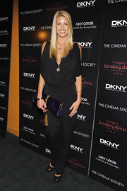 Beth Ortrosky-Stern wore a black silk jumpsuit at the 'Breaking Dawn' premiere.