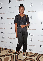 Genevieve Jones wore beautiful black-and-white pumps to 'The Whistleblower' screening.